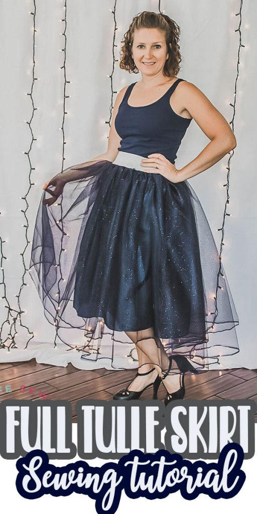 sew a full tulle skirt with this easy sewing tutorial in any size