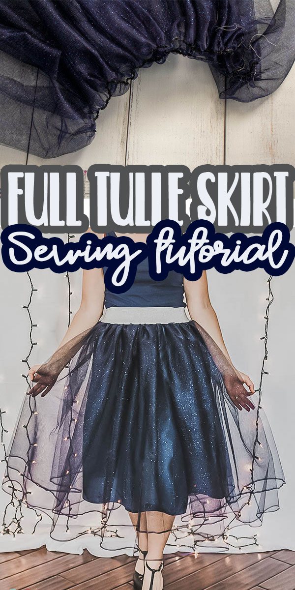 Sew a beautiful full tulle skirt in any size with this tutorial. This tulle skirt is the perfect party skirt and can be made with this easy sewing tutorial for any size.