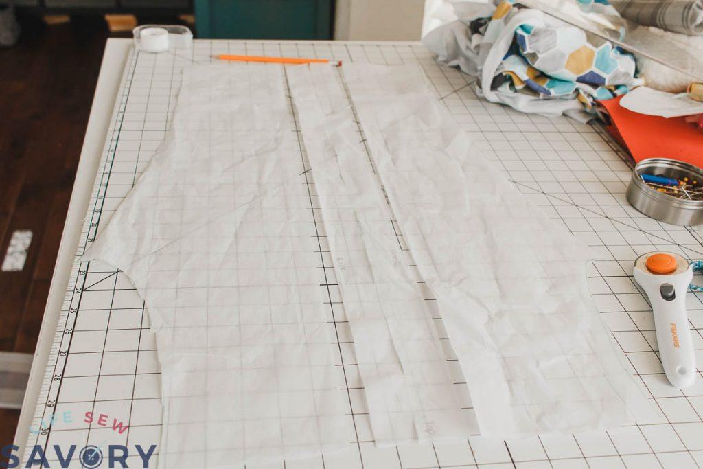 add side stripe to Slim fit athletic pants pattern