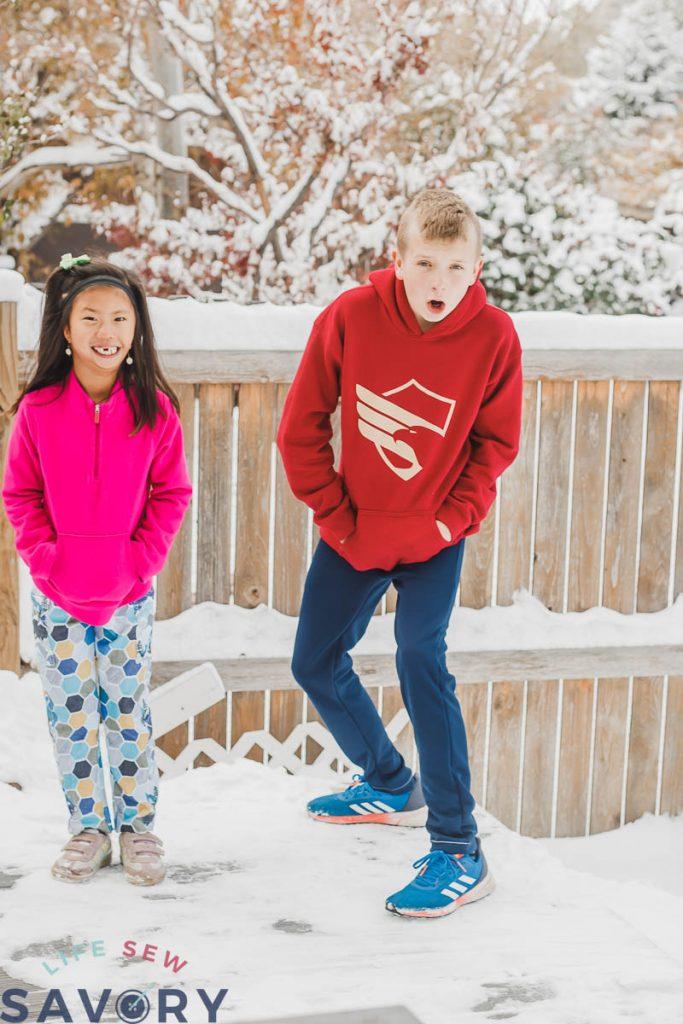 kids jogger pants sewing pattern