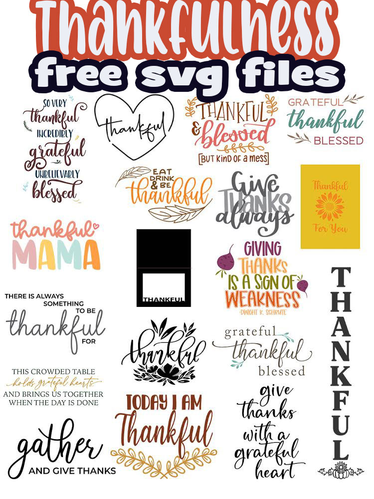 Check out a free thankful themed svg file from me AND a huge list of these from my friends. Download your favorite thankful files to make great fall projects. via @lifesewsavory