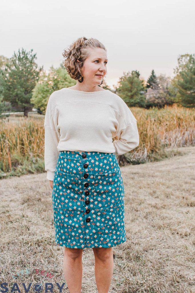 flat skirt front