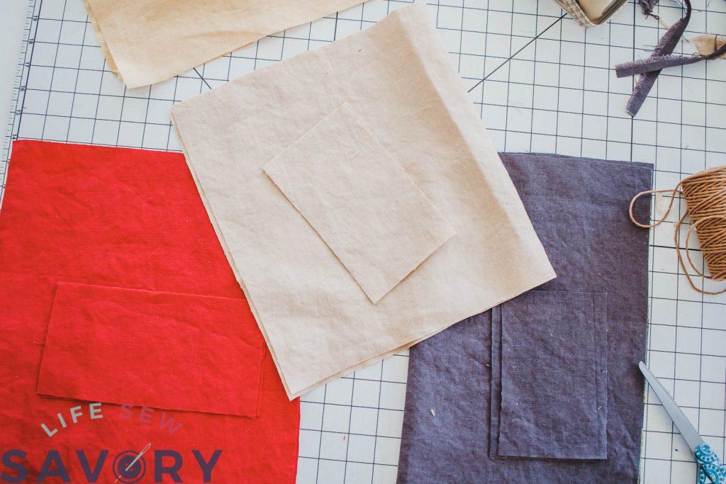 cut linen fabric