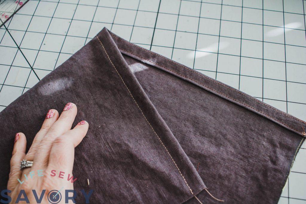 fold again and hem