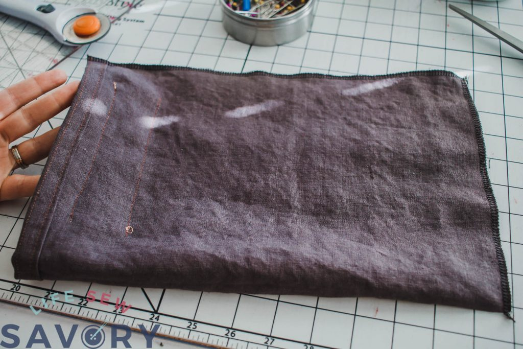 sew sides and bottom of bag