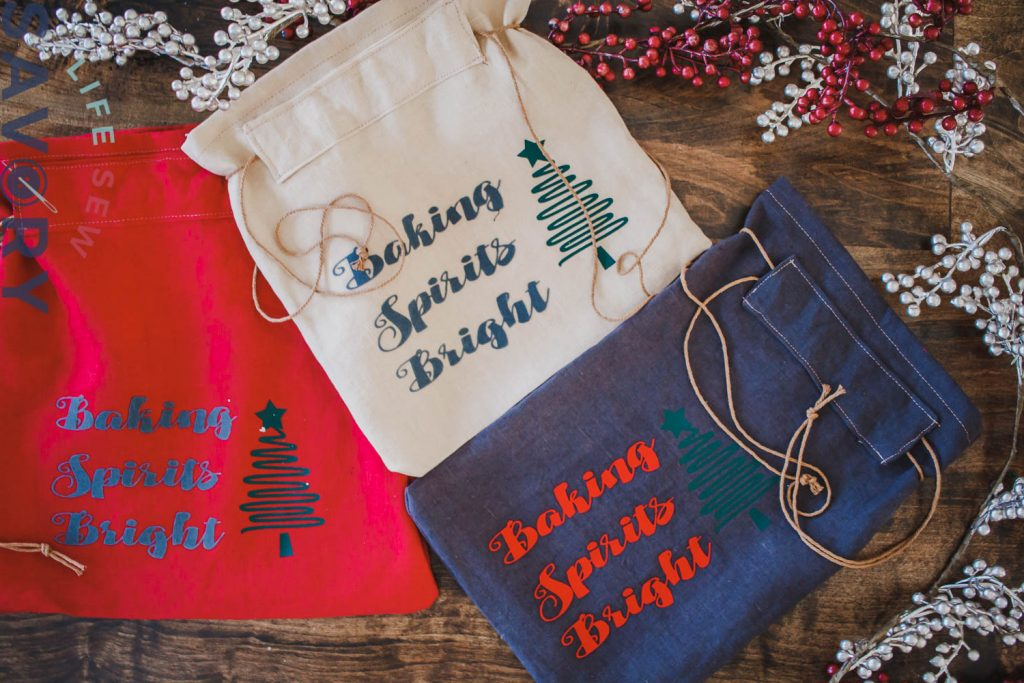 adorable linen bags for gifting bread