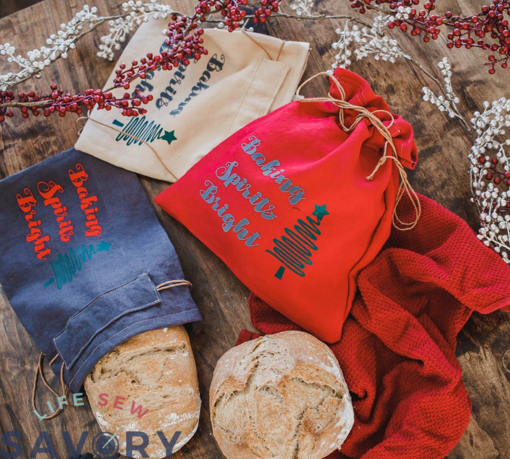 linen bread bags for gifting
