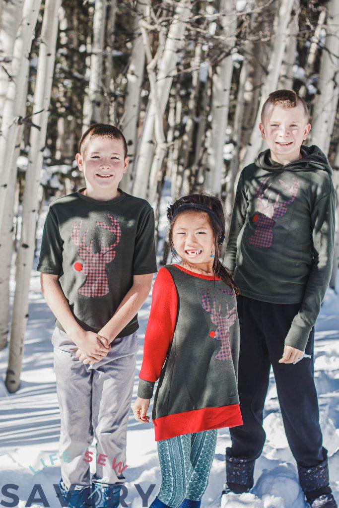 DIY christmas sweatshirts