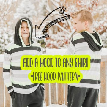 sew a hood on any shirt with a free sewing pattern