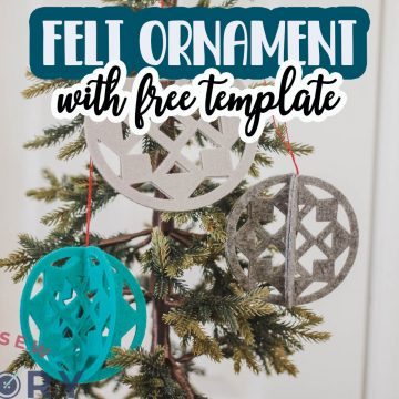 delicate felt ornament template