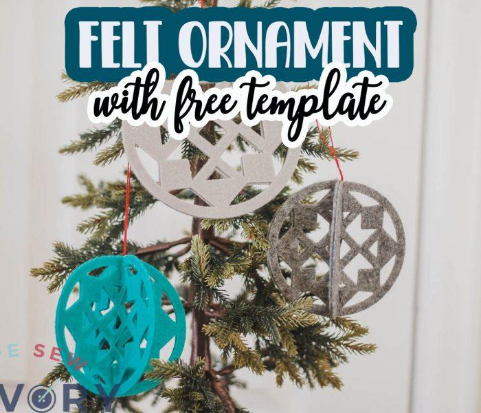 delicate felt ornament template