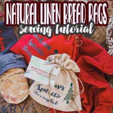linen bread bag sewing tutorial