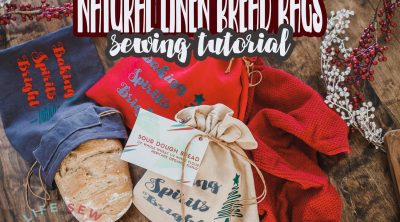 linen bread bag sewing tutorial