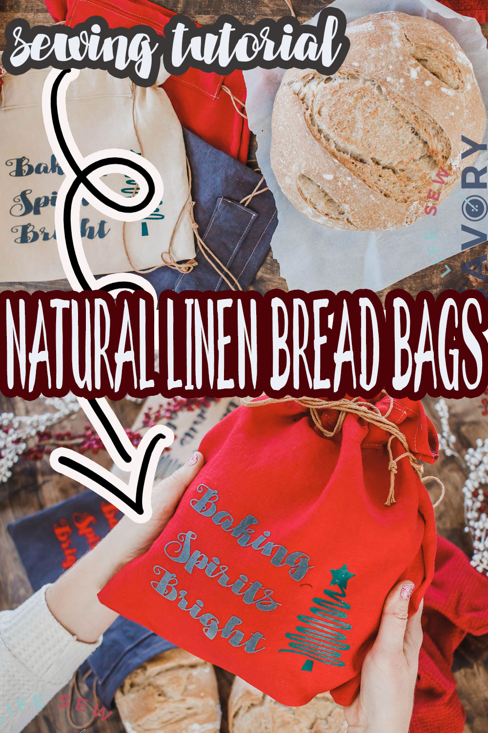 Sew a linen bread bag with this easy sewing tutorial. Gifting bread makes everyone happy and these natural linen bread bags make the perfect handmade gift partner.
