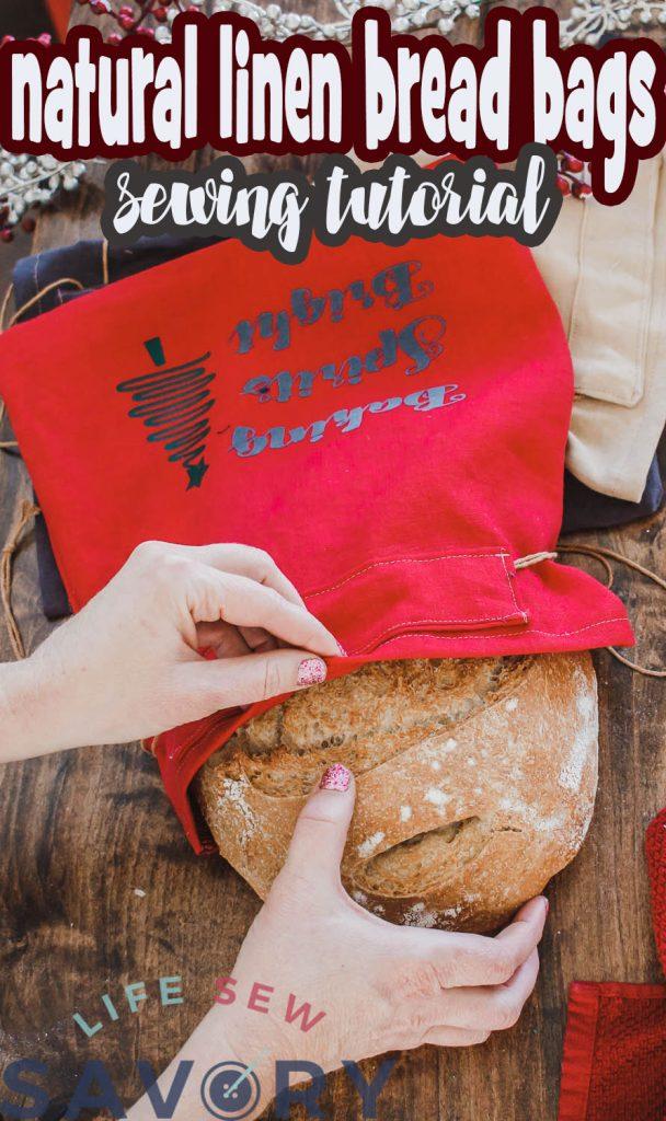 natural linen bread bag sewing tutorial