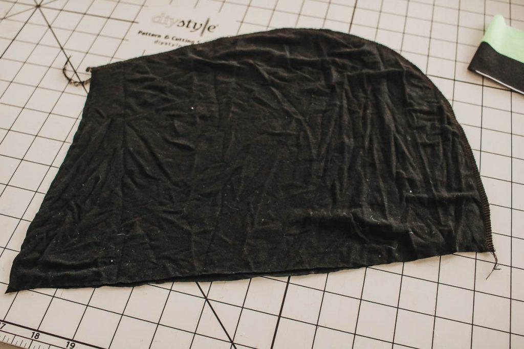 sew edge of hood