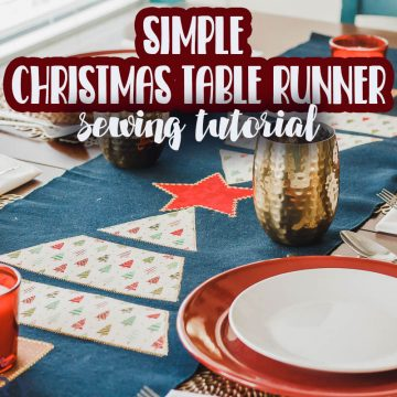 Christmas tree table runner sewing tutorial