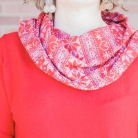 womens cowl neck add on