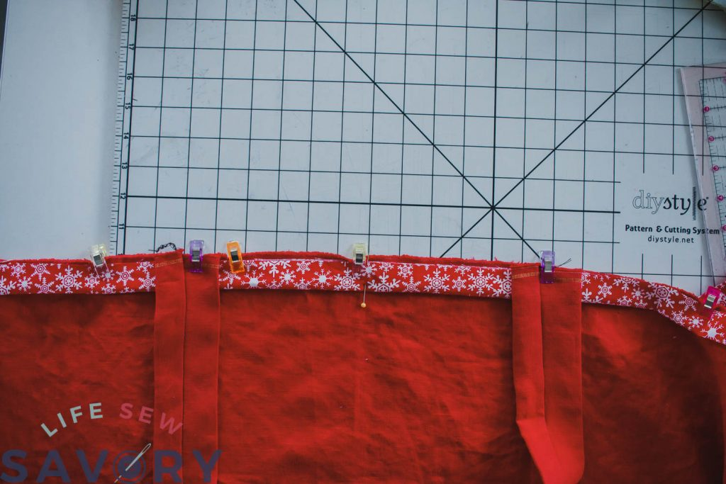 sewing tutorial for a Christmas apron