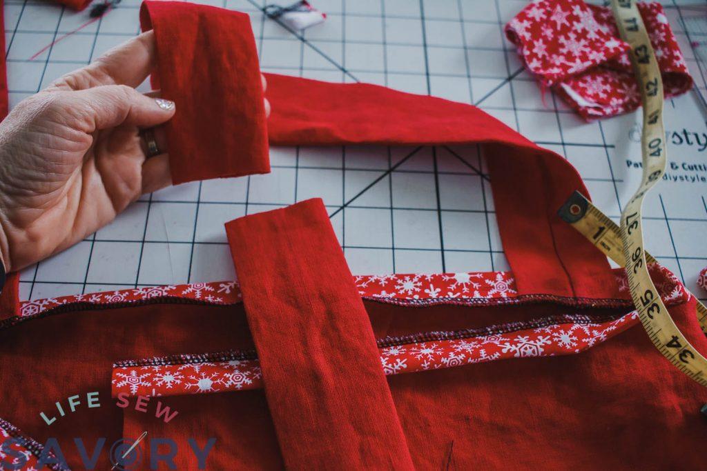 japanese style linen apron tutorial