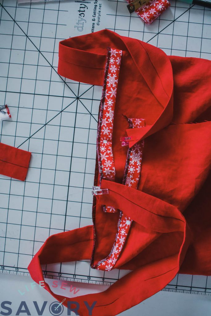 how to sew a christmas apron