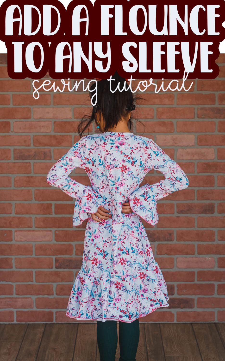 This tutorial will show you how to create and sew a sleeve flounce. You can add a flounce sleeve to the end of any sleeve or add it to a pattern you already have.