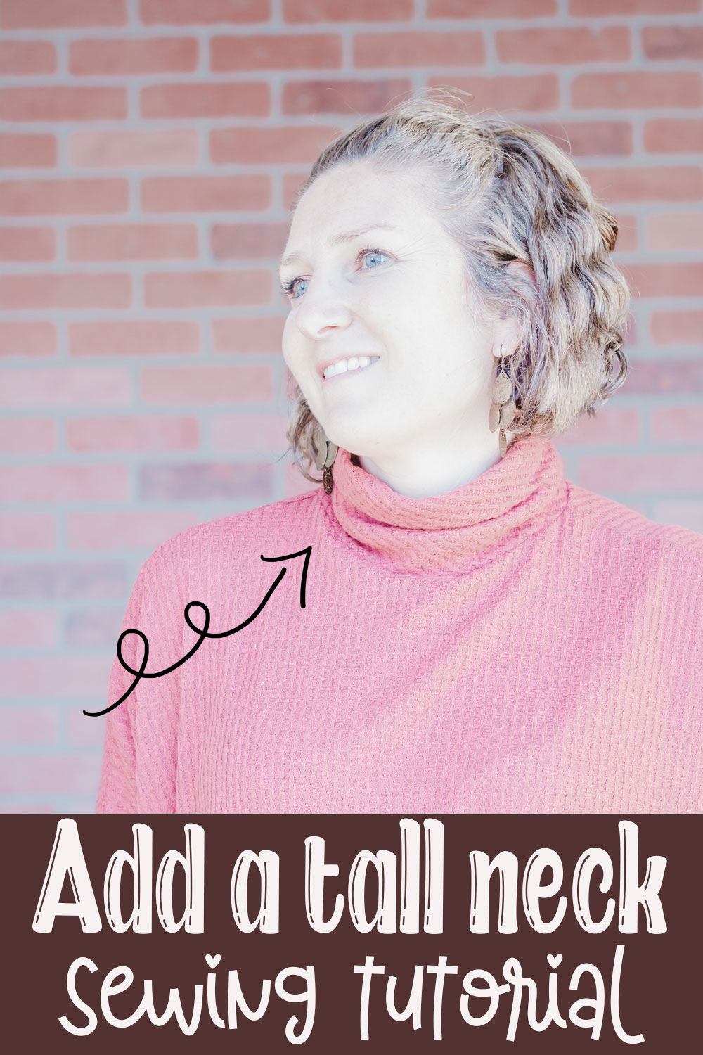learn how to draft and sew a turtle neck on any shirt. Change up a sewing pattern you already own by adding a turtle neck to the neckline.