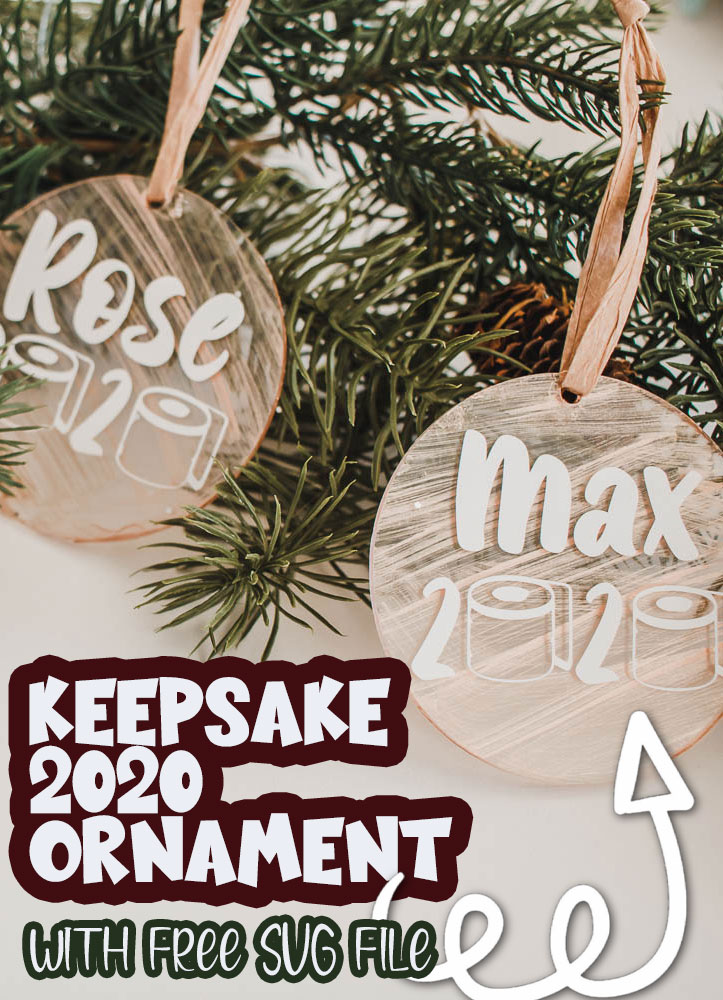 free cut file to make a 2020 ornament