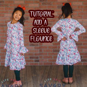 how to sew a sleeve flounce