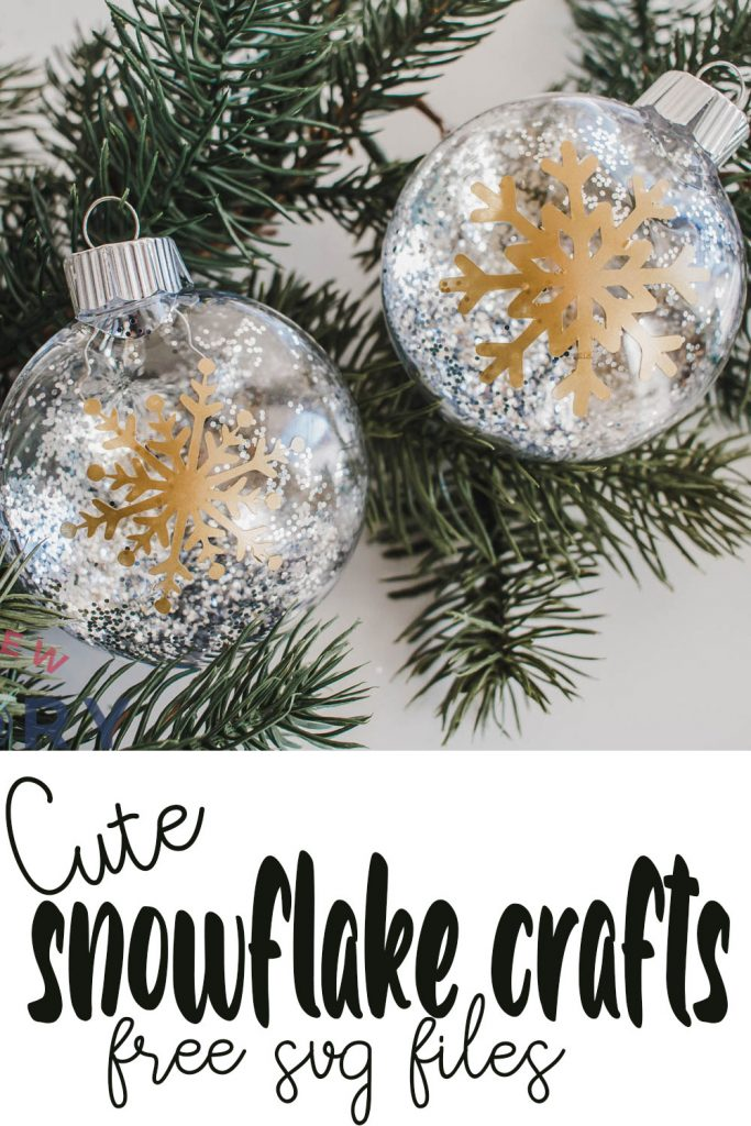 cute snowflake crafts and free cut files
