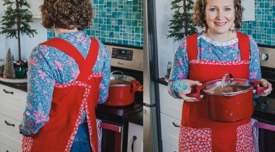 christmas apron sewing tutorial