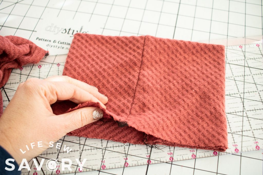 sew the back seam of the neck