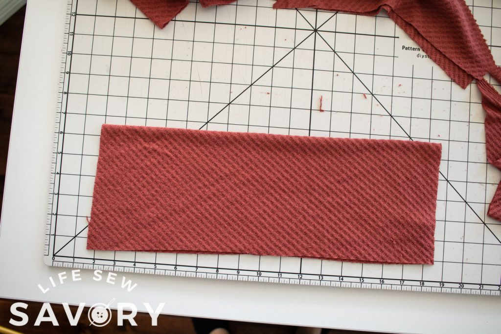 fold neck over to form the neckline