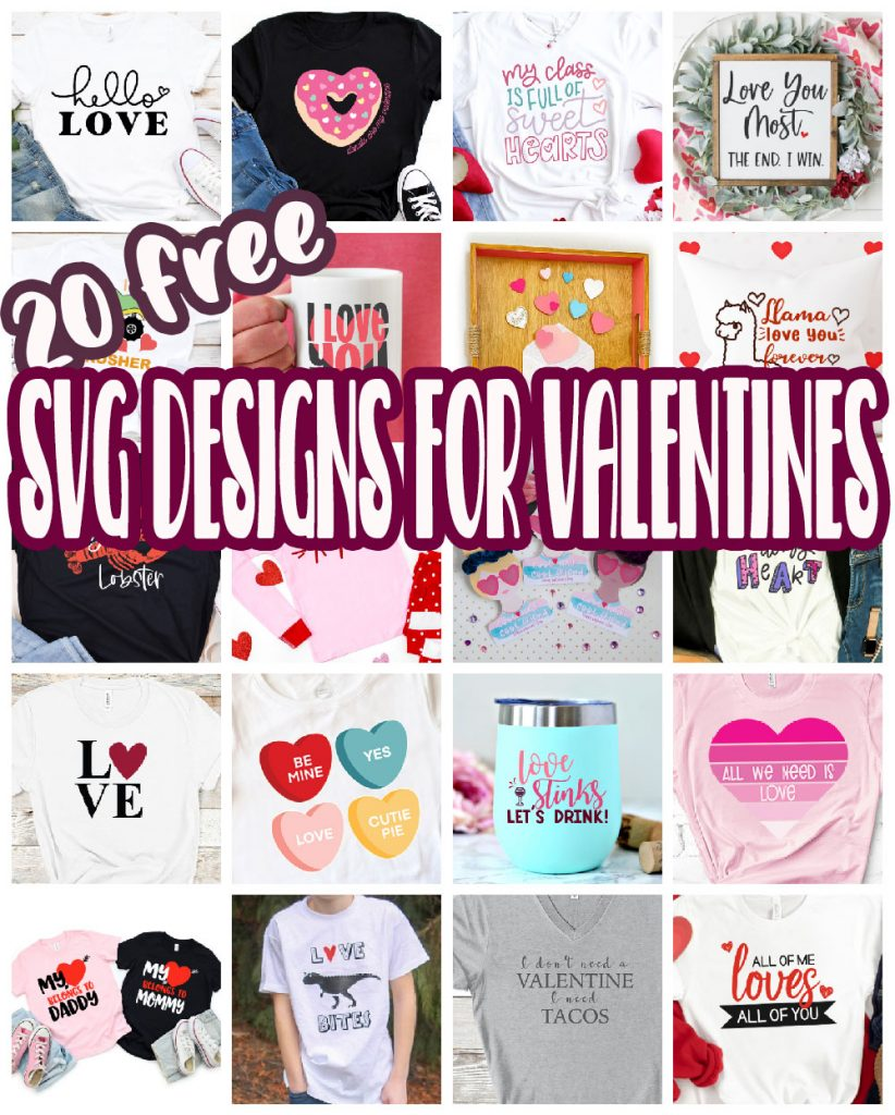 the best free svg files for valentines day