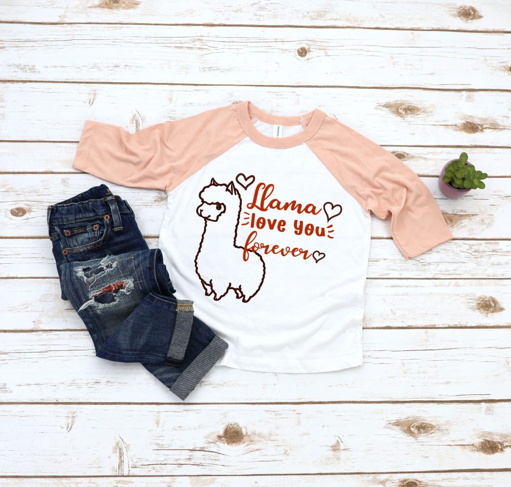 llama love you forever cut file