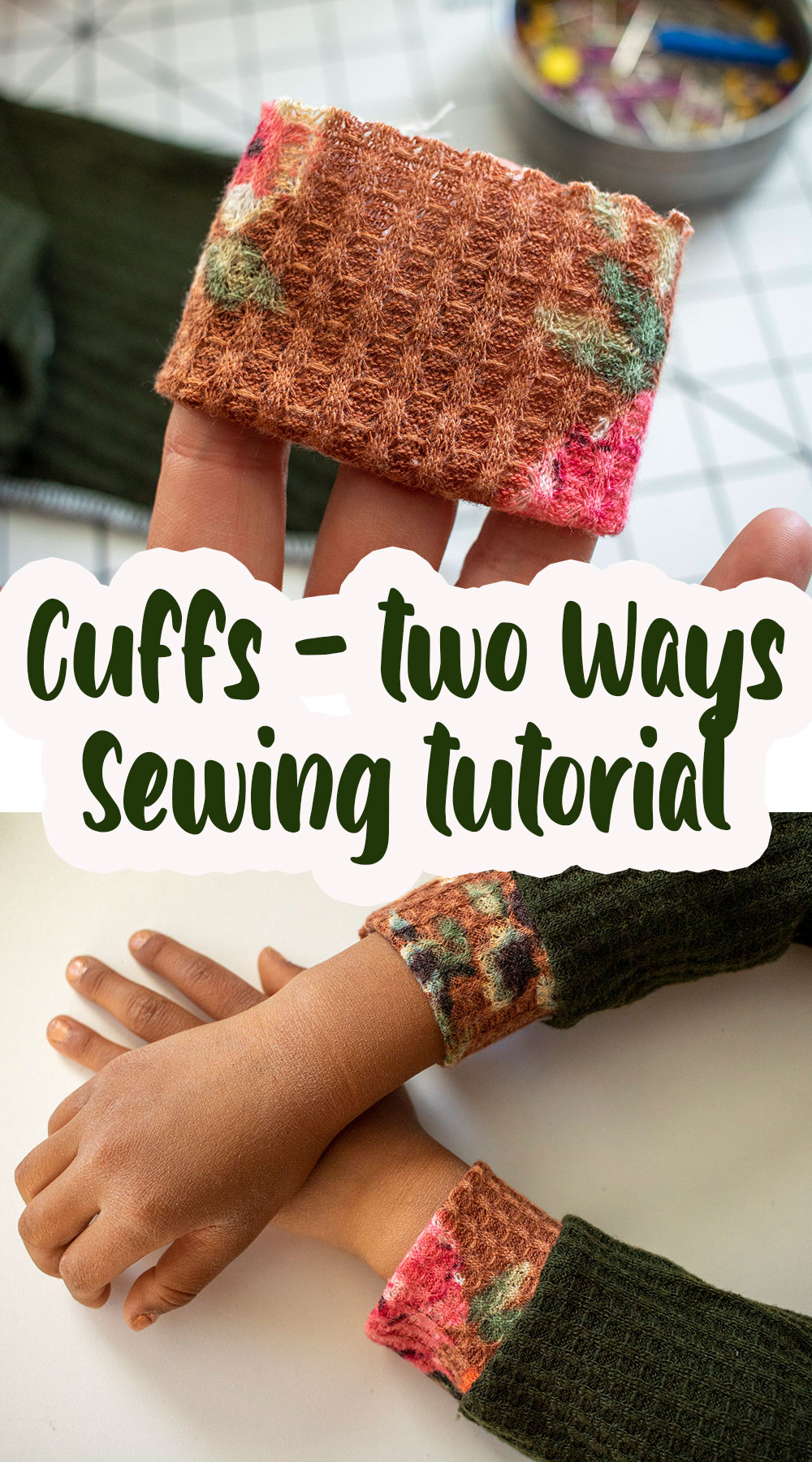sew cuffs two ways turn hem to cuffs