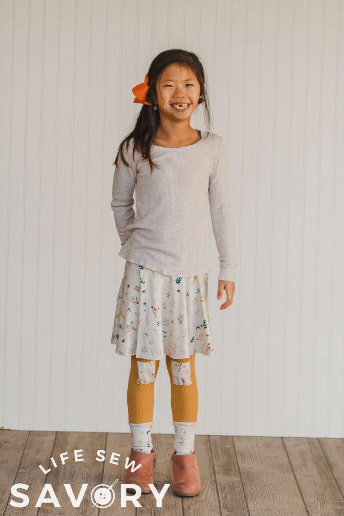 skirt on leggings sewing tutorial