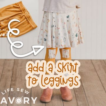 add a skirt to leggings