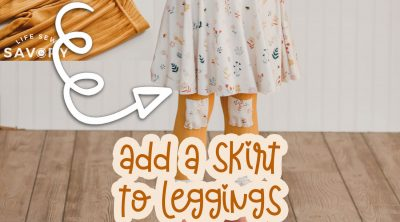 add a skirt to leggings