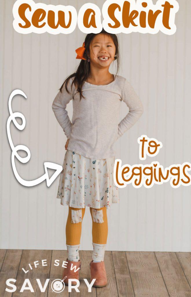 sew a skirt on leggings