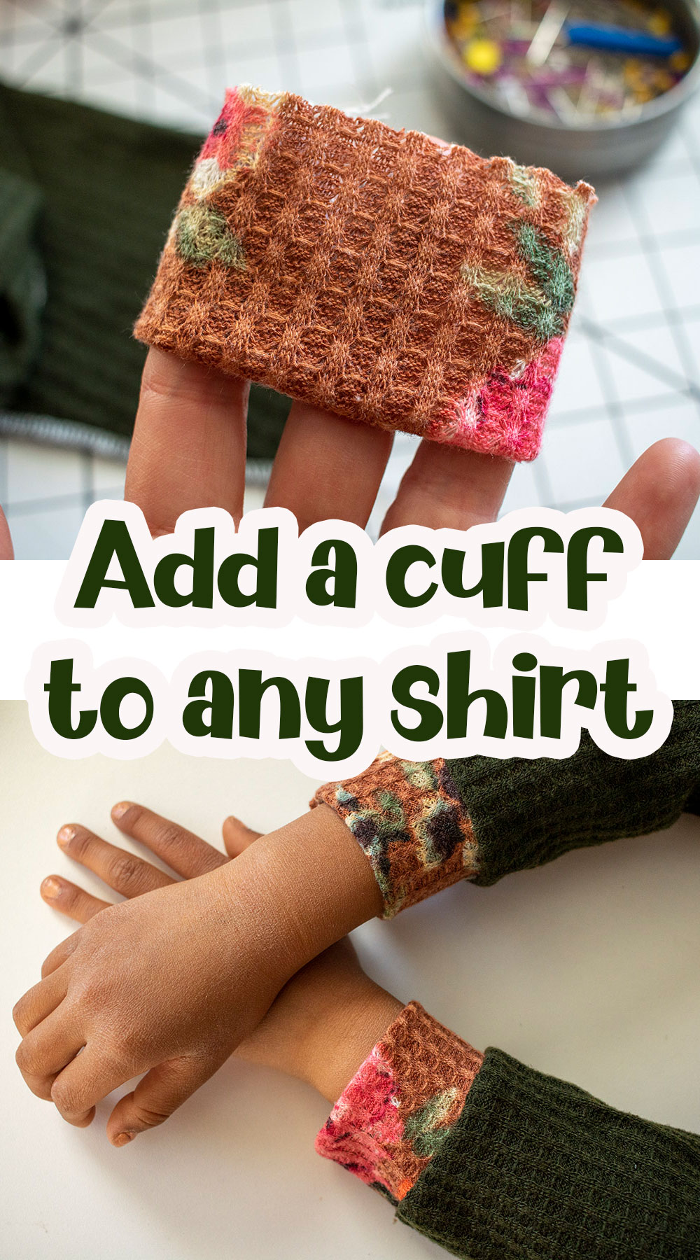 turn hems to cuffs sewing tutorial and hack
