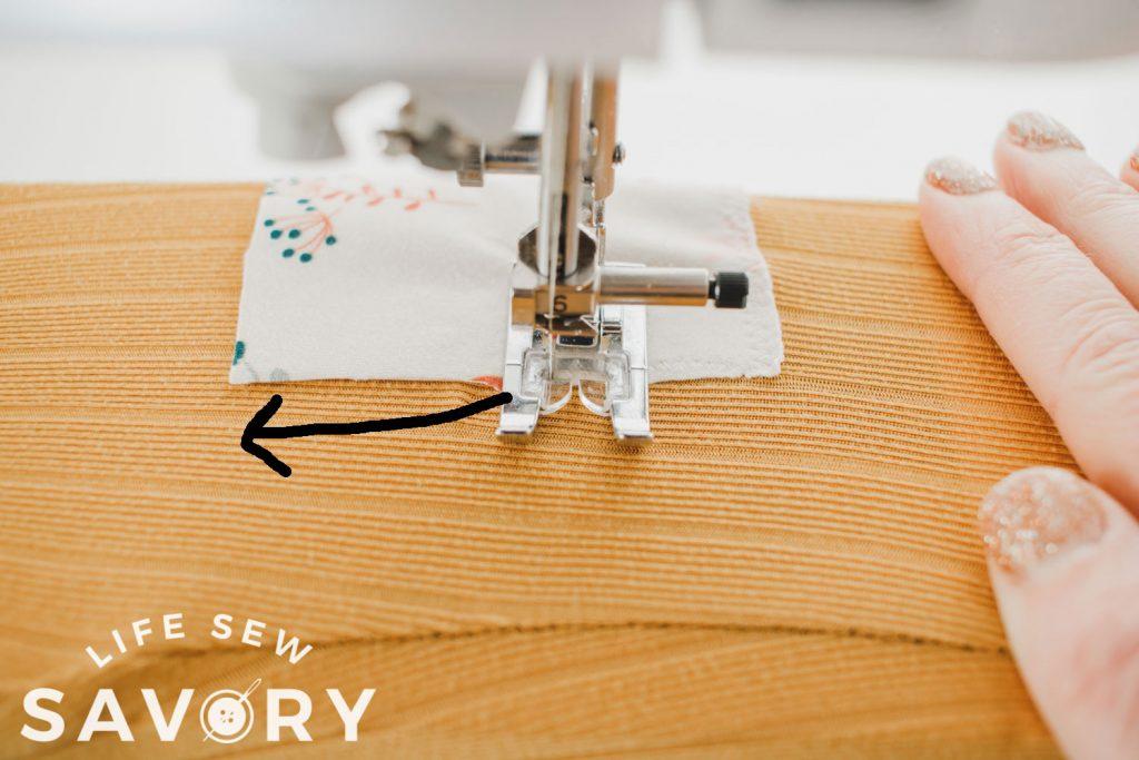 sideways sewing