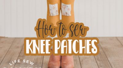 how to sew knee patches on leggings