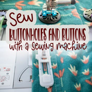 how to sew button holes