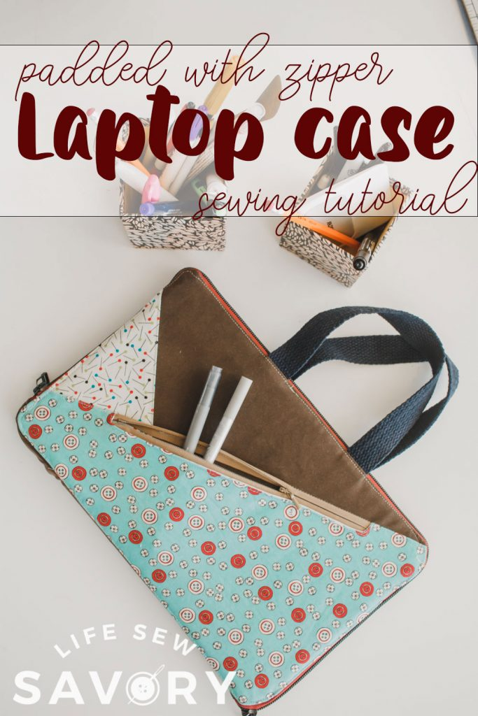 sew a zippered laptop case
