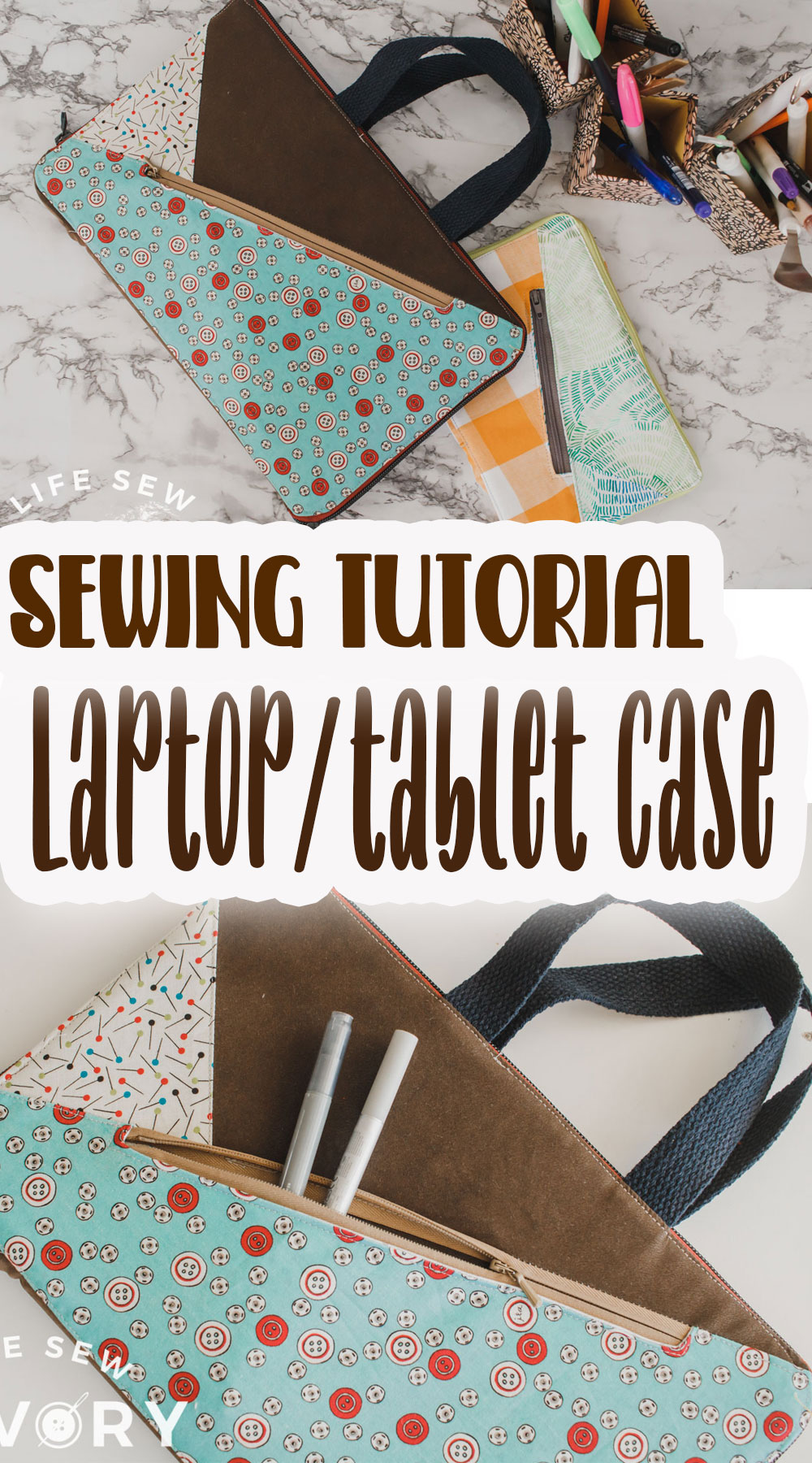 laptop case sewing tutorial with zipper