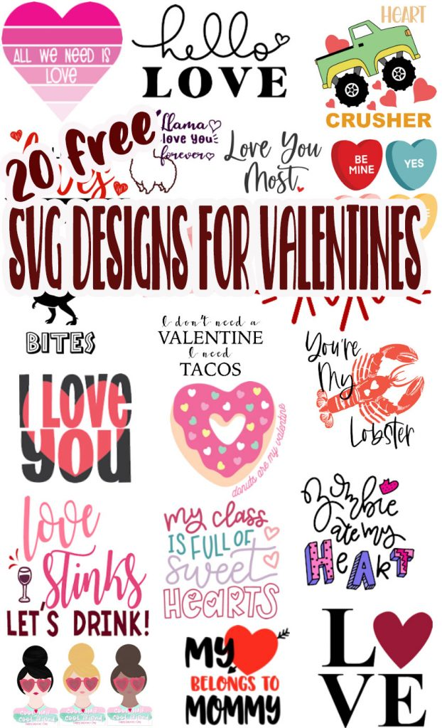 free cut files for Valentines day