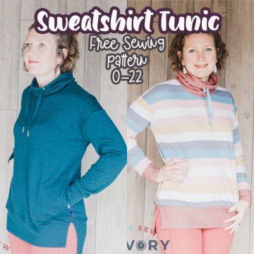 womens sweatshirt tunic