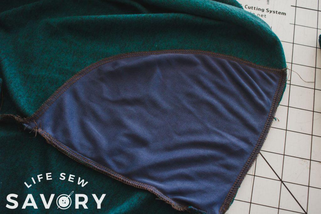 sew pocket together