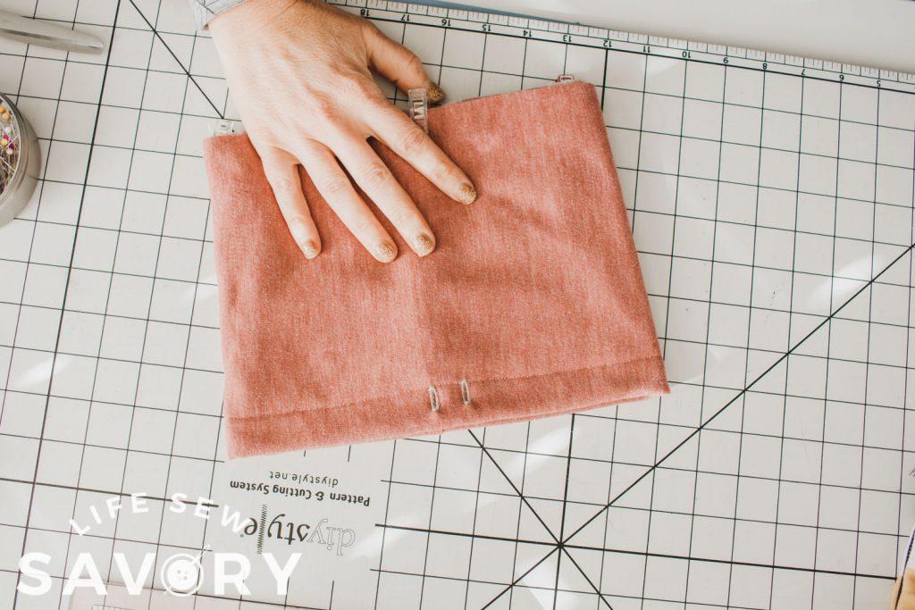add drawstring sleeve